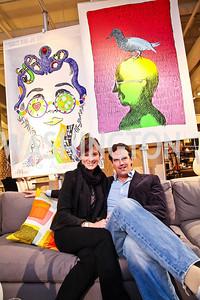 Lindsay Kin, Fletcher Gill. Photo by Tony Powell. CB2 Opening. April 29, 2011