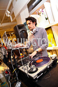 DJ Spider. Photo by Tony Powell. CB2 Opening. April 29, 2011