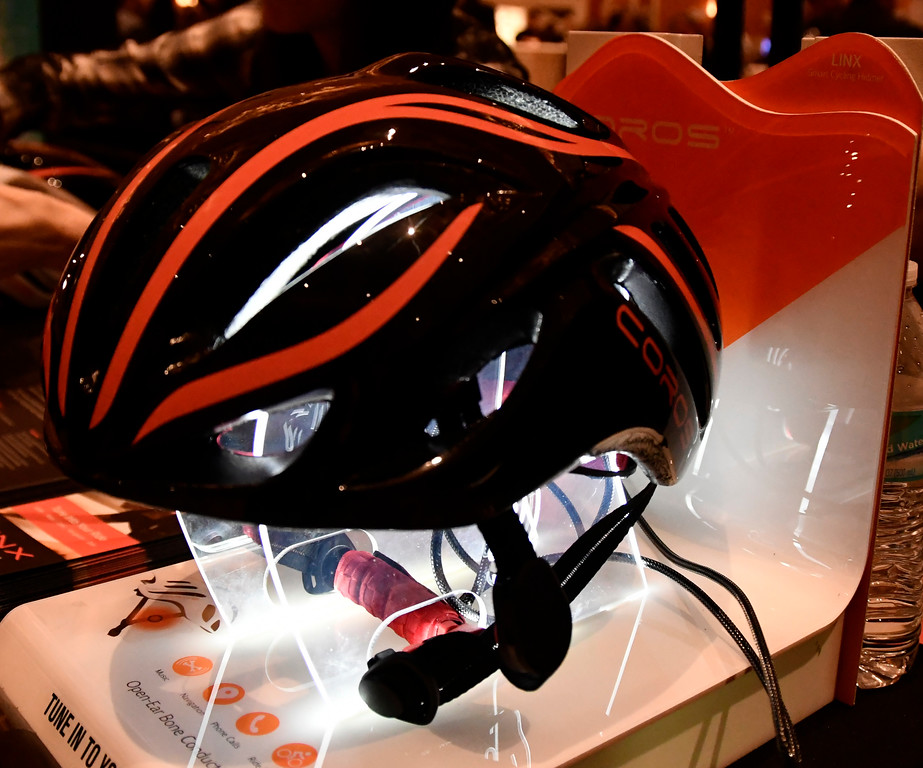 . Jan 6, 2017. Las Vegas NV.  Corps shows their smart helmet during ShowStoppers show at the 2017 CES show. CES  celebrates it\'s 50th anniversary this year with a estimated 175,000 to attend the four day show that starts Jan 5th to the 8th. Photos by Gene Blevins/LA Daily News/SCNG