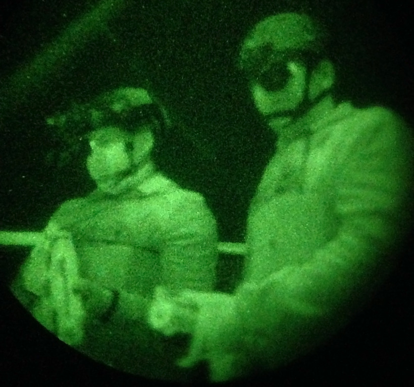 . Jan 6, 2017. Las Vegas NV. The History Chanel\'s latest show �Six� present a Night Vision Ops Training course for CES attendees to experience  during the day 2 of the 2017 ES show. Photos by Gene Blevins/LA Daily News/SCNG