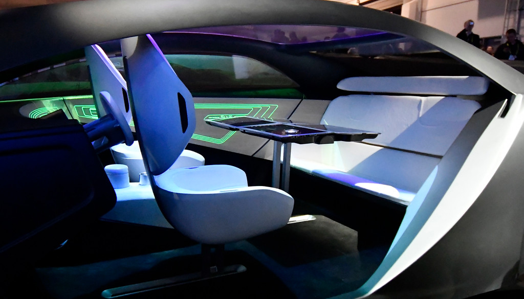. Jan 6, 2017. Las Vegas NV. Concept self driving car by Panosonic  on display during Day 2 of the 2017 CES show. CES  celebrates it\'s 50th anniversary this year with a estimated 175,000 to attend the four day show that starts Jan 5th to the 8th. Photos by Gene Blevins/LA Daily News/SCNG