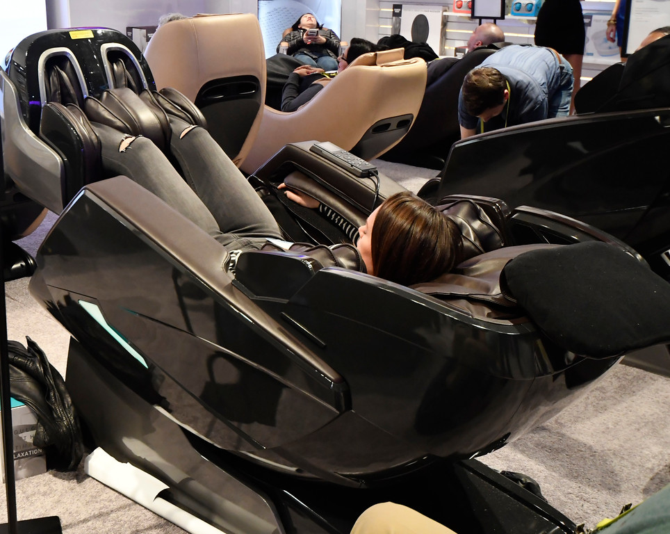 . Jan 6, 2017. Las Vegas NV. ShaperImage shows their latest chairs for comfort during Day 2 of the 2017 CES show. CES  celebrates it\'s 50th anniversary this year with a estimated 175,000 to attend the four day show that starts Jan 5th to the 8th. Photos by Gene Blevins/LA Daily News/SCNG