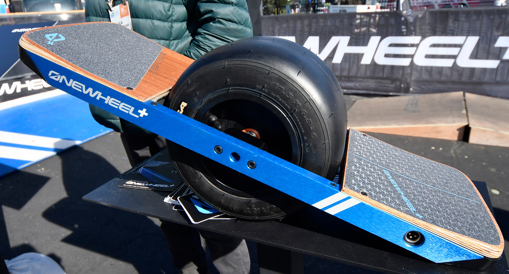 . Jan 6, 2017. Las Vegas NV.   OneWheel electric board on display during Day 2 of the 2017 CES show. CES  celebrates it\'s 50th anniversary this year with a estimated 175,000 to attend the four day show that starts Jan 5th to the 8th. Photos by Gene Blevins/LA Daily News/SCNG