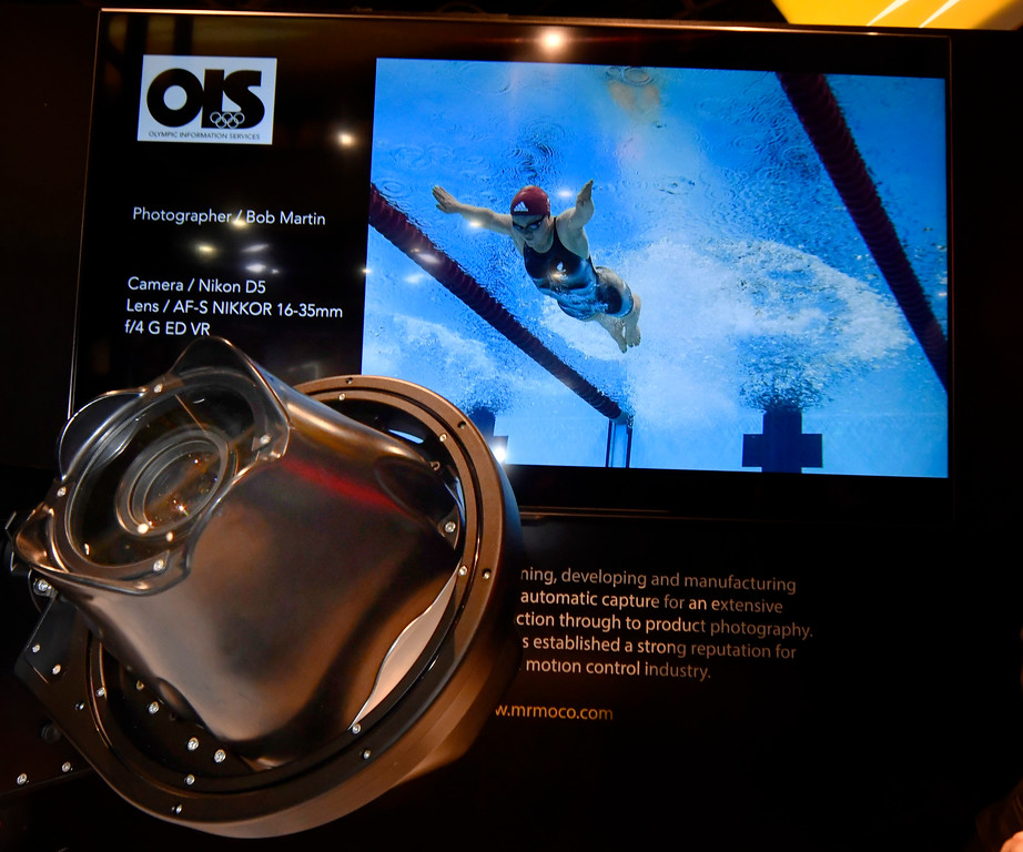 . Jan 6, 2017. Las Vegas NV.  Nikon\'s shows their US Olympic robot camera remote housing during Day 2 of the 2017 CES show. CES  celebrates it\'s 50th anniversary this year with a estimated 175,000 to attend the four day show that starts Jan 5th to the 8th. Photos by Gene Blevins/LA Daily News/SCNG