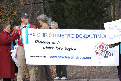 We were joined by Northern Virginians for Peace and Justice, Episcopal Peace Fellowship, Friends of Langley Hill(Quakers), NOVA Catholic Community, CODE PINK, Witnesses Against Torture and others.