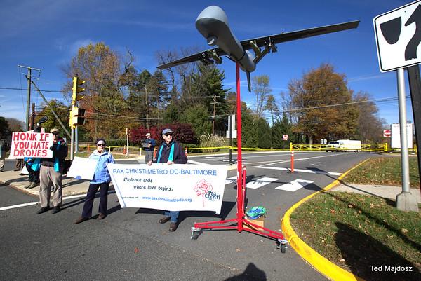 CIA drone vigil 11/8/2014