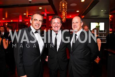 Executive Vice President of CNN Ken Jautz, Piers Morgan, President of CNN Worldwide Jim Walton. CNN Congressional Correspondent's Dinner After Party. Photo by Tony Powell. Lincoln. March 30, 2011