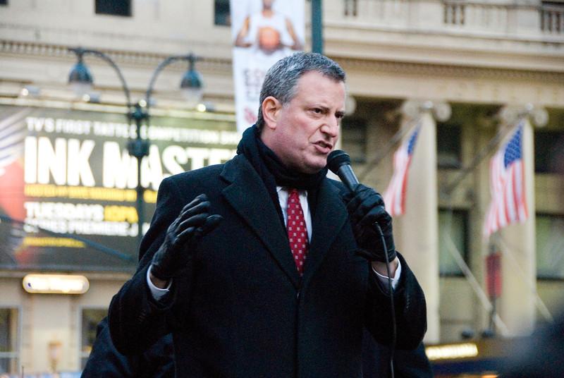 CWA supporter and Public Advocate Bill De Blasio.
