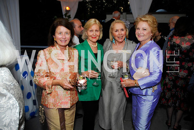 Jamie Kraft, Evelyn diBona, Gillian Korn, Mary Mochary,  Cafritz End of Summer Party, September 9, 2011, Kyle Samperton