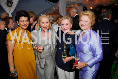 Shamin Jawad, Gillian Korn, Jeannie Reasch, Mary Mochary, Cafritz End of Summer Party, September 9, 2011, Kyle Samperton