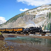 Locomotive 486 pulls southbound train over the Silverton Timber Bridge.