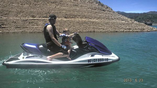 Cameron, Keith, John ride on Shasta 6/22/13