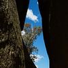 View between the cracks in the boulders at Gibraltar Peak, Tidbinbilla Canberra