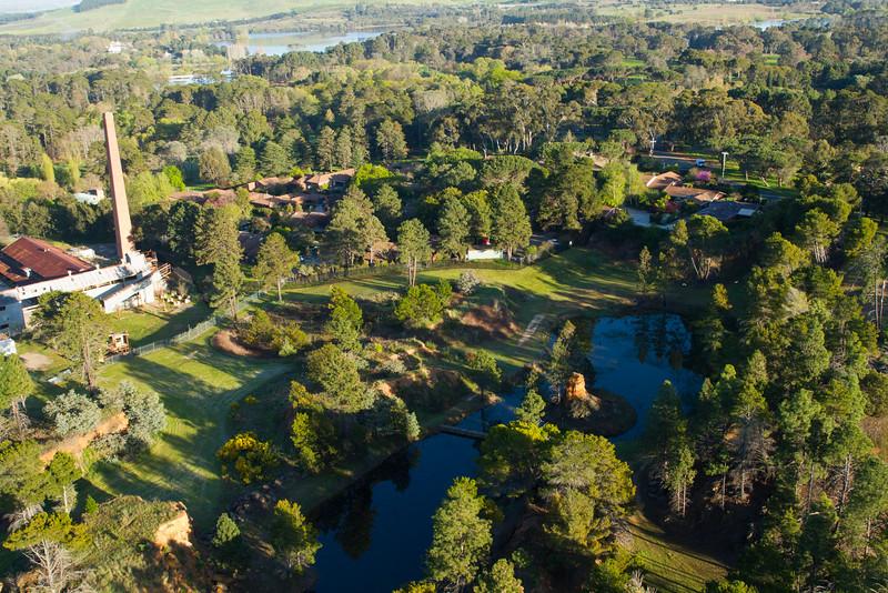 Flying over Canberra Brick works
