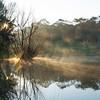 Canberra's misty sunrises