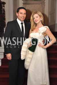 Daniel Huertas and Elizabeth Cane Capital City Ball, Washington Club, November 19, photos by Ben Droz