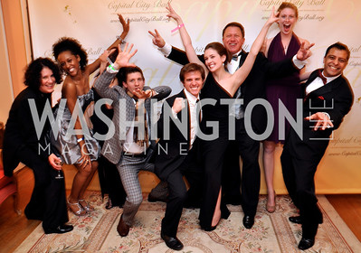 Maurene Hanna, Imani Baker Donovan England, Michael Mazzara, Molly Shotwell, Michael Lilly, Anne Dutton Alexander Rosales Capital City Ball, Washington Club, November 19, photos by Ben Droz