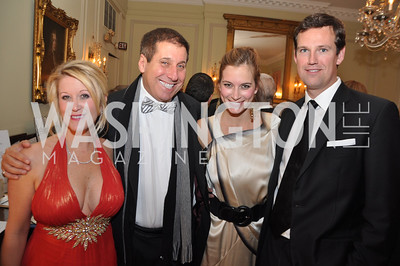 R to L Fletcher Gill, Lindsay Kin, Gary Maslan, Kimberly Warfield Capital City Ball, Washington Club, November 19, photos by Ben Droz