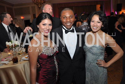 Veronica Amaya, Mikhail Bell, Seda Nak,  Bridge to Freedom Foundation Capital City Ball, Washington Club, November 19, photos by Ben Droz