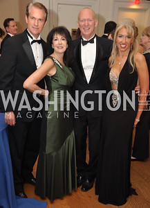 R to L Tanya Lynn Sabel John Dunford, Liz Sara, Tom Critchfield Capital City Ball, Washington Club, November 19, photos by Ben Droz