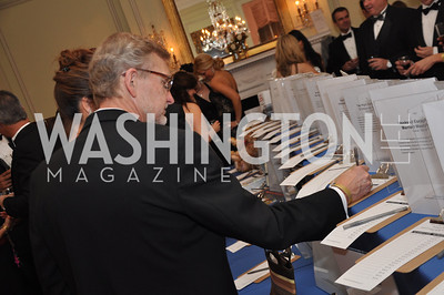 John Robert Smith bids Capital City Ball, Washington Club, November 19, photos by Ben Droz