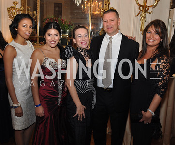 Kesi Howell, Veronica Amaya, Cassandra Clifford, Founder of Bridge to Freedom Foundation, Greg Carkhuff Melanie Turner Capital City Ball, Washington Club, November 19, photos by Ben Droz