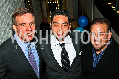 Sen. Mark Warner, Walter Rhee, Raul Fernandez. CMI Winter Fundraiser. Photo by Tony Powell. Dirty Martini. January 13, 2011