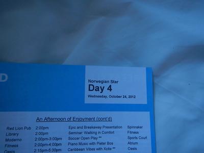 Day 4, At Sea 10-24-2012