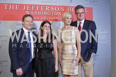 "Chris Licht, Jenny Licht, Mika Brzezinski, Joe Scarborough. Photo by Alfredo Flores. Celebrate Chris Licht, MSNBC's ""Morning Joe"" Executive Producer. The Jefferson Hotel. May 26, 2011"
