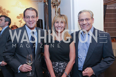 "Daniel Silva, Jamie Gangel, Bob Woodward. Photo by Alfredo Flores. Celebrate Chris Licht, MSNBC's ""Morning Joe"" Executive Producer. The Jefferson Hotel"
