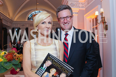 "Mika Brzezinski, Joe Scarborough. Photo by Alfredo Flores. Celebrate Chris Licht, MSNBC's ""Morning Joe"" Executive Producer. The Jefferson Hotel. May 26, 2011"