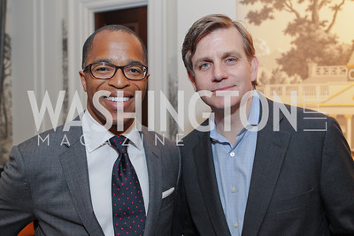 "Jonathan Capehart, Kevin Sheekey. Photo by Alfredo Flores. Celebrate Chris Licht, MSNBC's ""Morning Joe"" Executive Producer. The Jefferson Hotel"