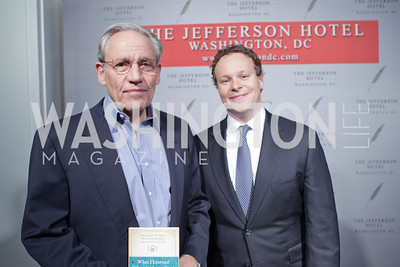 "Bob Woodward, Chris Licht. Photo by Alfredo Flores. Celebrate Chris Licht, MSNBC's ""Morning Joe"" Executive Producer. The Jefferson Hotel"