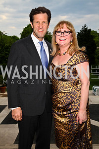 Rep. Russ Carnahan and Debra Carnahan. Photo by Tony Powell. Celebration of the Royal Wedding. Residence of the English Ambassador. April 29, 2011