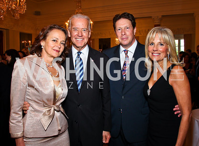 Lady Julia Sheinwald, VP Joe Biden, English Amb. Sir Nigel Sheinwald, Dr. Jill Biden. Photo by Tony Powell. Celebration of the Royal Wedding. Residence of the English Ambassador. April 29, 2011