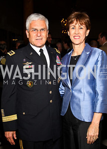 General George Casey and Sheila Casey. Photo by Tony Powell. Celebration of the Royal Wedding. Residence of the English Ambassador. April 29, 2011