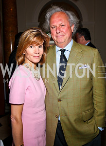 Anna Carter and Vanity Fair Editor Graydon Carter. Photo by Tony Powell. Celebration of the Royal Wedding. Residence of the English Ambassador. April 29, 2011