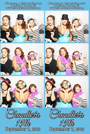 Chandler's 15th Birthday Party - Photo Booth Pictures