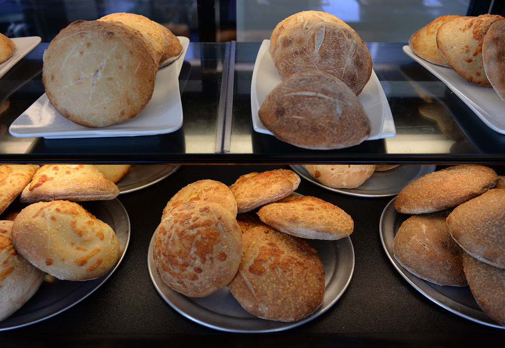. Freshly baked focaccia bread for sandwiches. Chayo Eatery in Torrance is a kosher restaurant filling a niche in the local Jewish community. They make fresh pizzas, salads, soups and sandwiches. Photo by Brad Graverson/The Daily Breeze 01/03/14