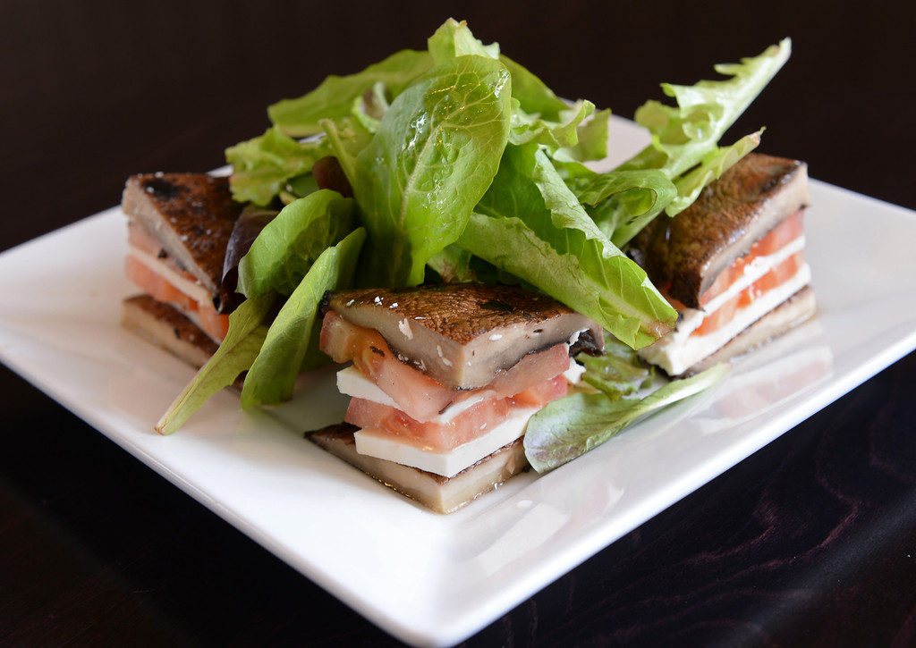 . Portobelo stuffed salad with arugula lettuce. Chayo Eatery in Torrance is a kosher restaurant filling a niche in the local Jewish community. They make fresh pizzas, salads, soups and sandwiches. Photo by Brad Graverson/The Daily Breeze 01/03/14