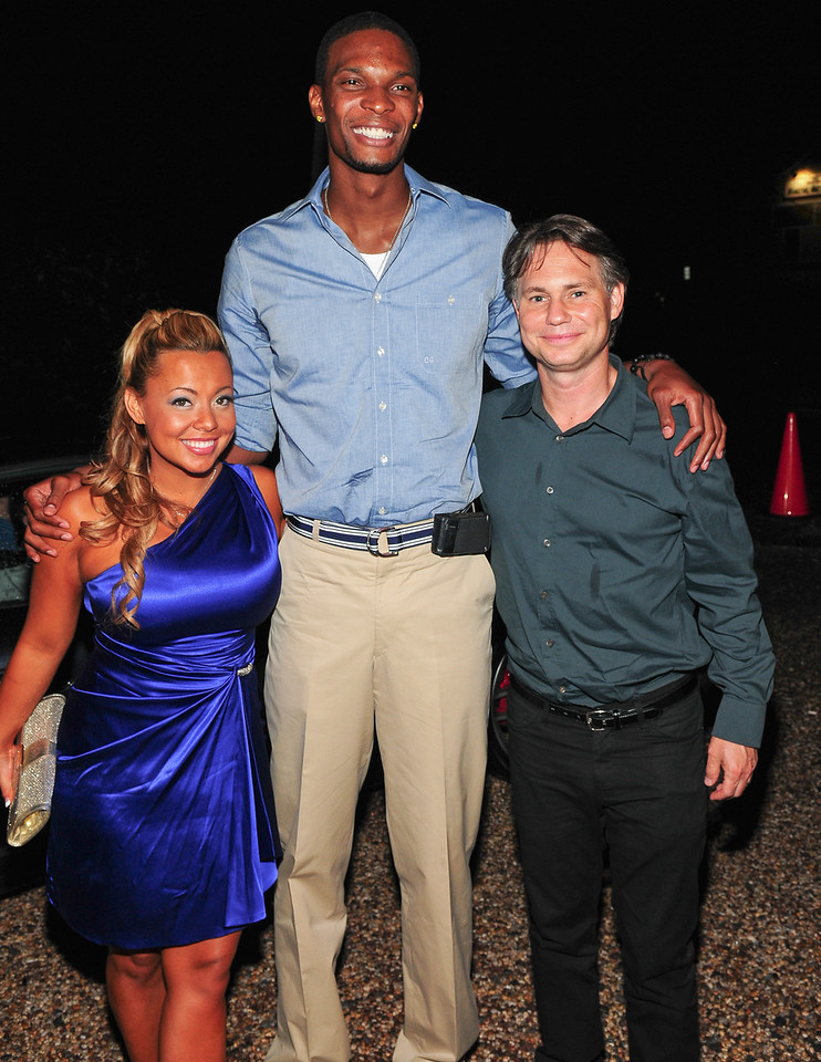 July 23 2010 Adriane Mayes, Chris Bosh, Jason Binn  Attends  A dinner in Honor Of After School All Stars at Philippe in East Hampton (Photo by Joseph Bellantoni/In House Image)