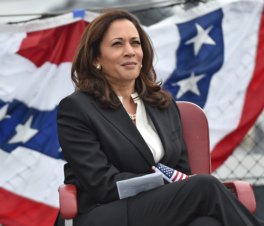 . 40 young people became US citizens Monday morning July 3, 2017 aboard the USS Iowa during Independence Day Citizenship Ceremony with keynote speaker Senator Kamala Harris. CA senator Kamala Harris.  Photo by Robert Casillas, Daily Breeze/SCNG