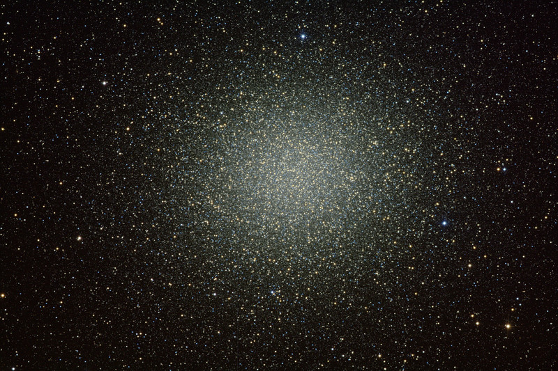 Omega Centauri - the Big One. LRGB 1x3 min each. Stunningly good seeing just before heavy rainclouds came through. The perfect time to photograph something bright and sharp.