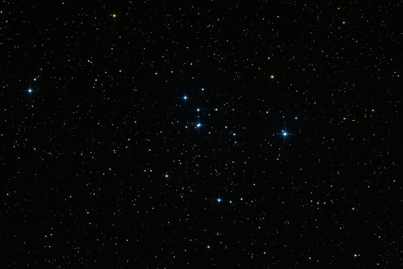 Very bright and easy: just 3x 60 sec exposures each in R, G, B. Compare with M46 which is in the same binocular field.