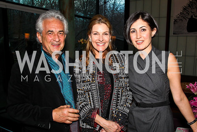 Travis Price, Gail Percy, Rania Hanano. Cocktail Party to Benefit Roerich House, Mongolia. Photo by Tony Powell. Travis Price House. March 24, 2011