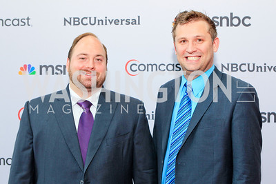 Karl Frisch, Sam Nitz. Photo by Alfredo Flores. Comcast's 15th Anniversary Party for MSNBC. America's Square 300 New Jersey. July 7, 2011