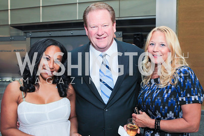 Leila McDowell, Ed Schultz, Wendy Schultz. Photo by Alfredo Flores. Comcast's 15th Anniversary Party for MSNBC. America's Square 300 New Jersey. July 7, 2011