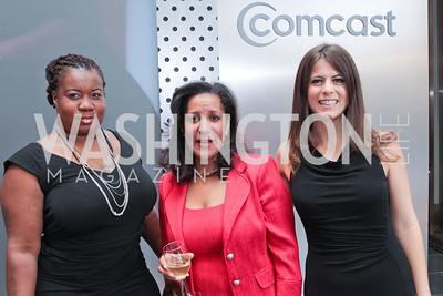 Shanica Mayo, Traci Royall, Lauren Gary. Photo by Alfredo Flores. Comcast's 15th Anniversary Party for MSNBC. America's Square 300 New Jersey. July 7, 2011