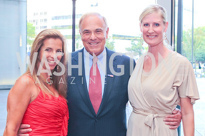 Kory Apton, Ed Rendell, Kirstin Snow. Photo by Alfredo Flores. Comcast's 15th Anniversary Party for MSNBC. America's Square 300 New Jersey. July 7, 2011