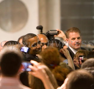 On Tuesday, May 8, President Barack Obama traveled to the College of Nanoscale Science and Engineering's (CNSE) Albany NanoTech Complex at the State University of New York in Albany, New York to discuss the economy. Hudson Valley Press/CHUCK STEWART, JR.